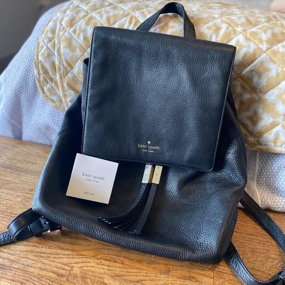 kate spade Handbags - Black leather kate spade backpack ♠️